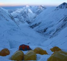 High camps & views on Everest South Side