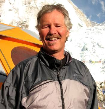 Dan Griffith at Base Camp. Photo Fiona Adler