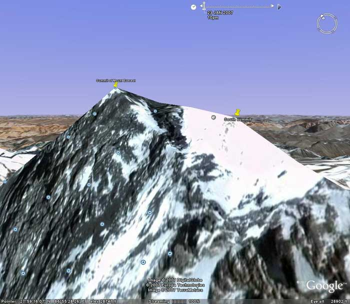 The view from the WSW. Image from Google Earth by Nick Grainger